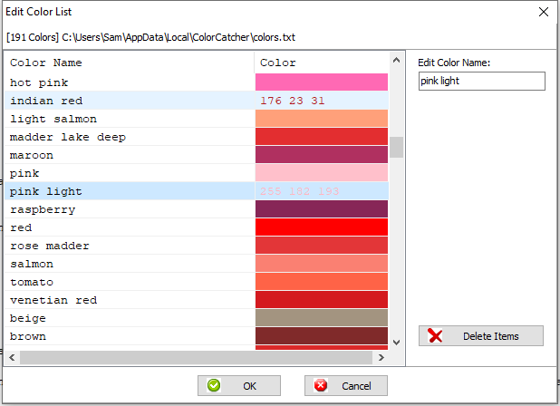 preview colorCatcher